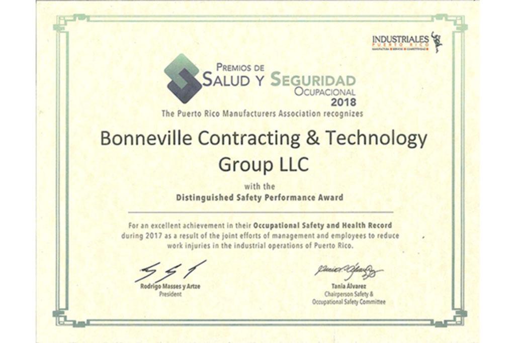 certificaciones de Bonneville group